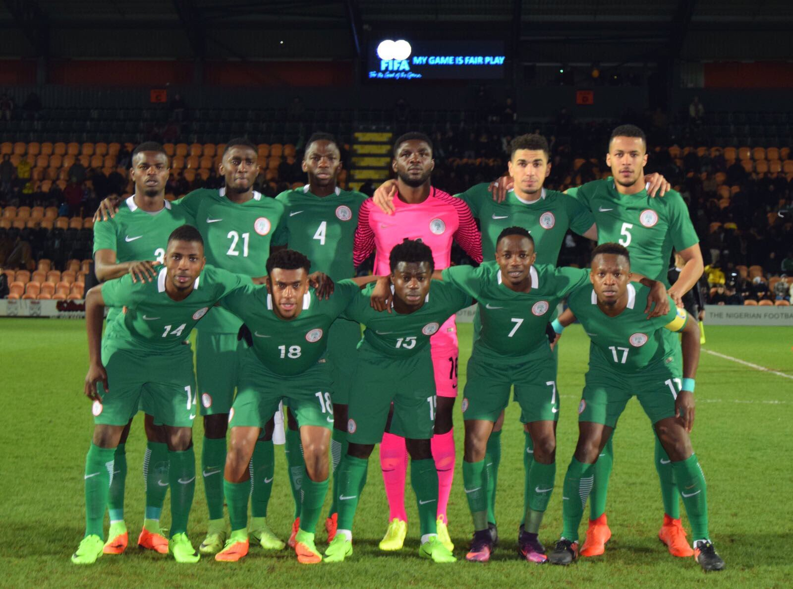 Omeruo: Super Eagles London Camp Great Experience