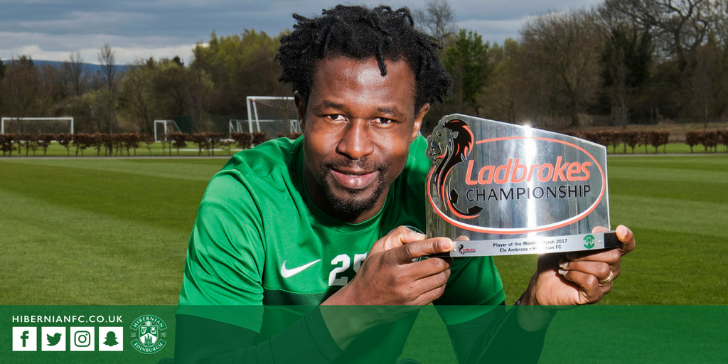 Ambrose Voted Scottish Championship March Player Of The Month