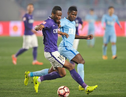 Mikel Scores First CSL Goal, Ideye Features As Tianjin Win