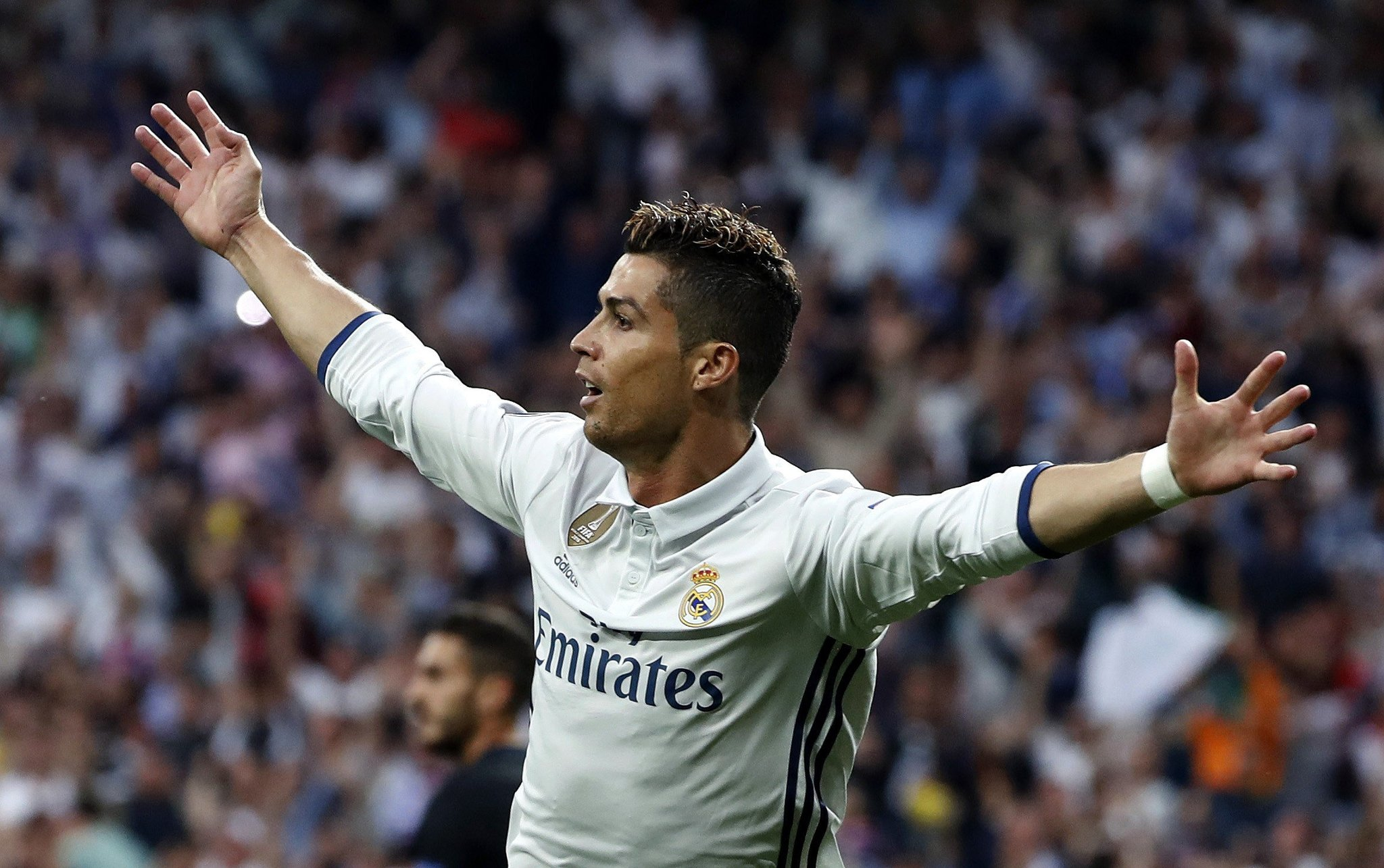 Ronaldo Hits Hat-trick, Sets Records As Real Trounce Atletico
