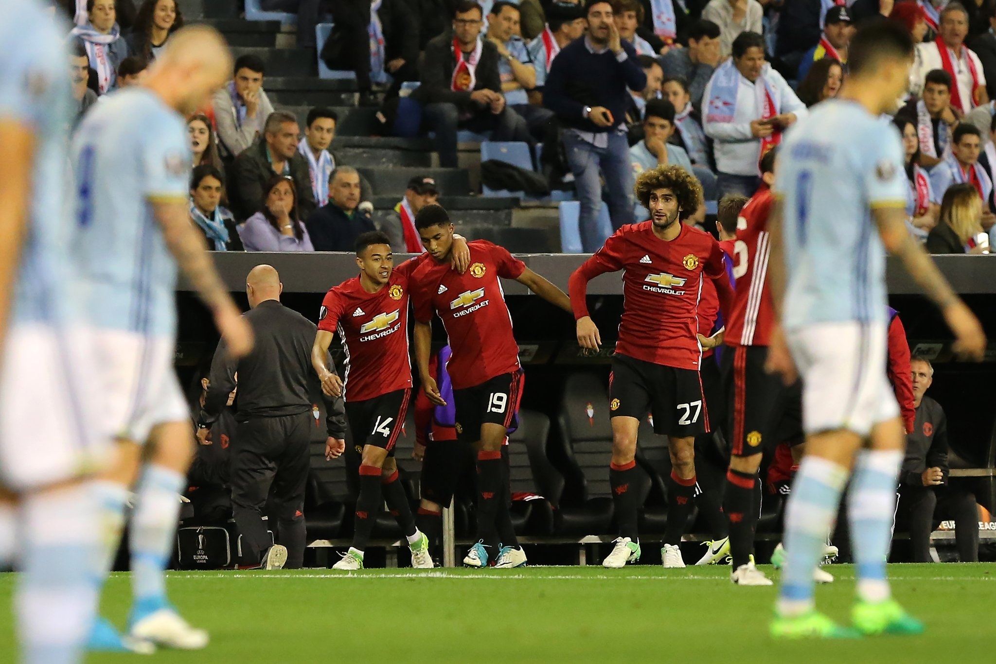 Europa: Rashford Scores Stunner Vs Celta As United Take First Leg Advantage