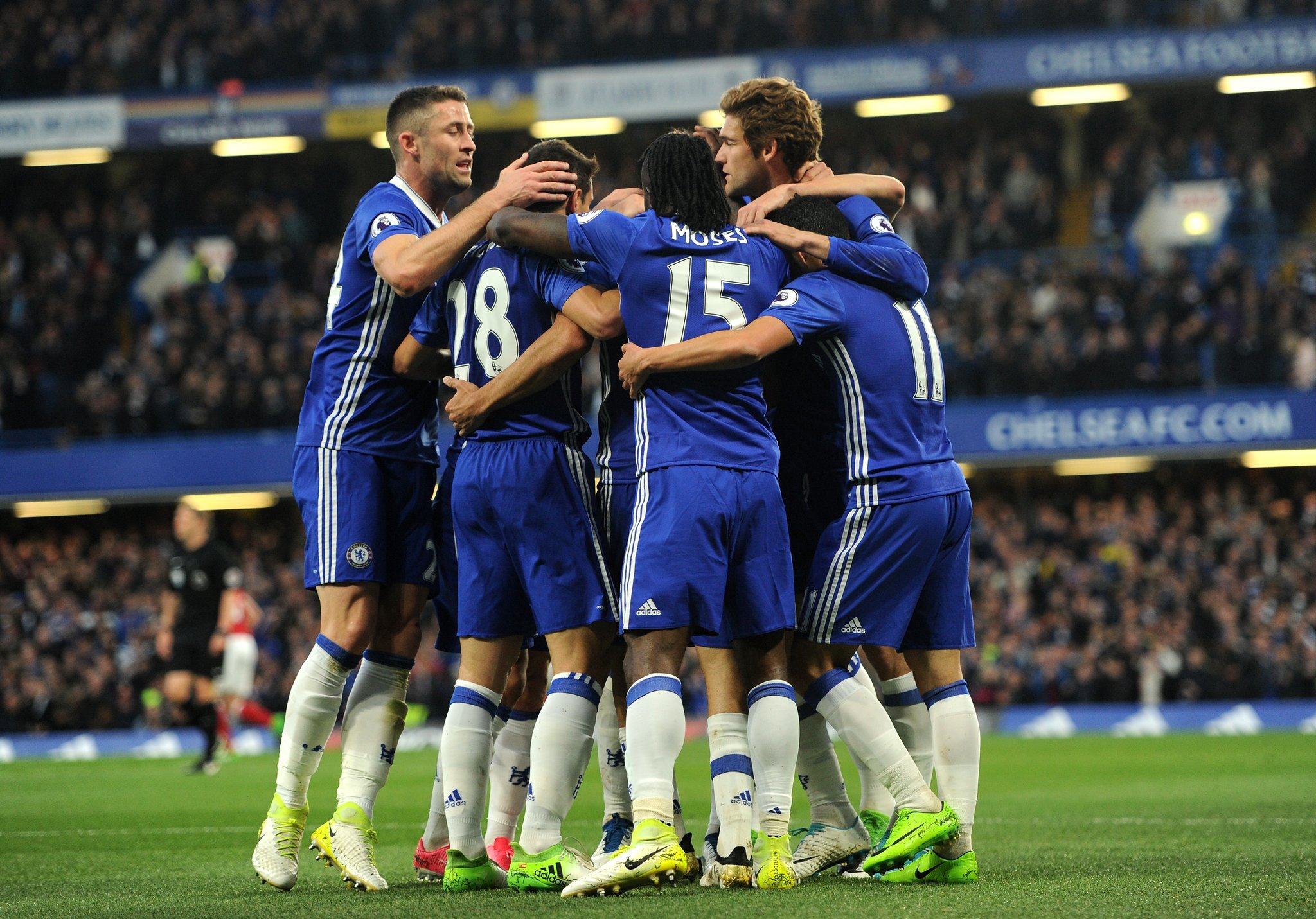 Moses Shines As Chelsea Close In On EPL Title,  Boro Relegated