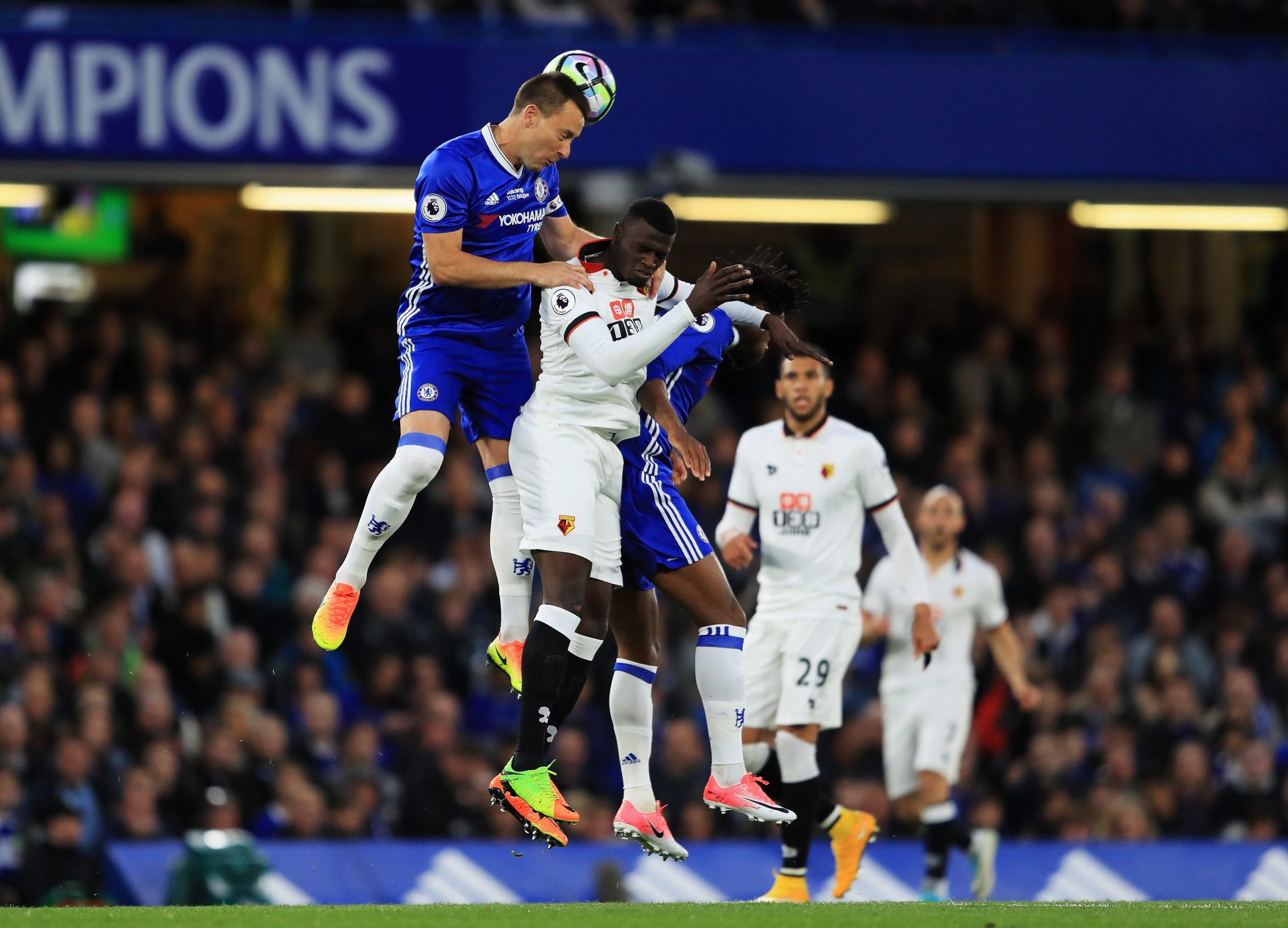 Moses Rested, Aina Subbed On As Champions Chelsea Edge Watford