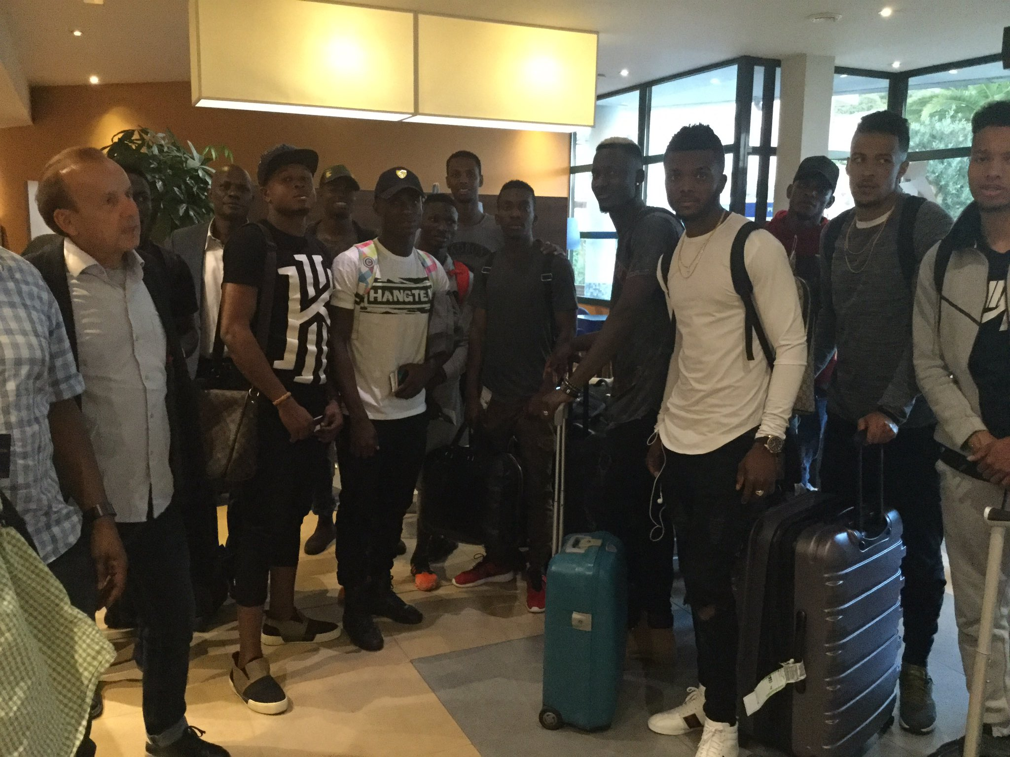 Etebo, Onyekuru, Echiejile, NPFL Stars Land In Corsica For Eagles Friendly