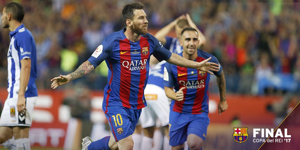 Messi Stars As Barca Win Third Straight Copa Del Rey