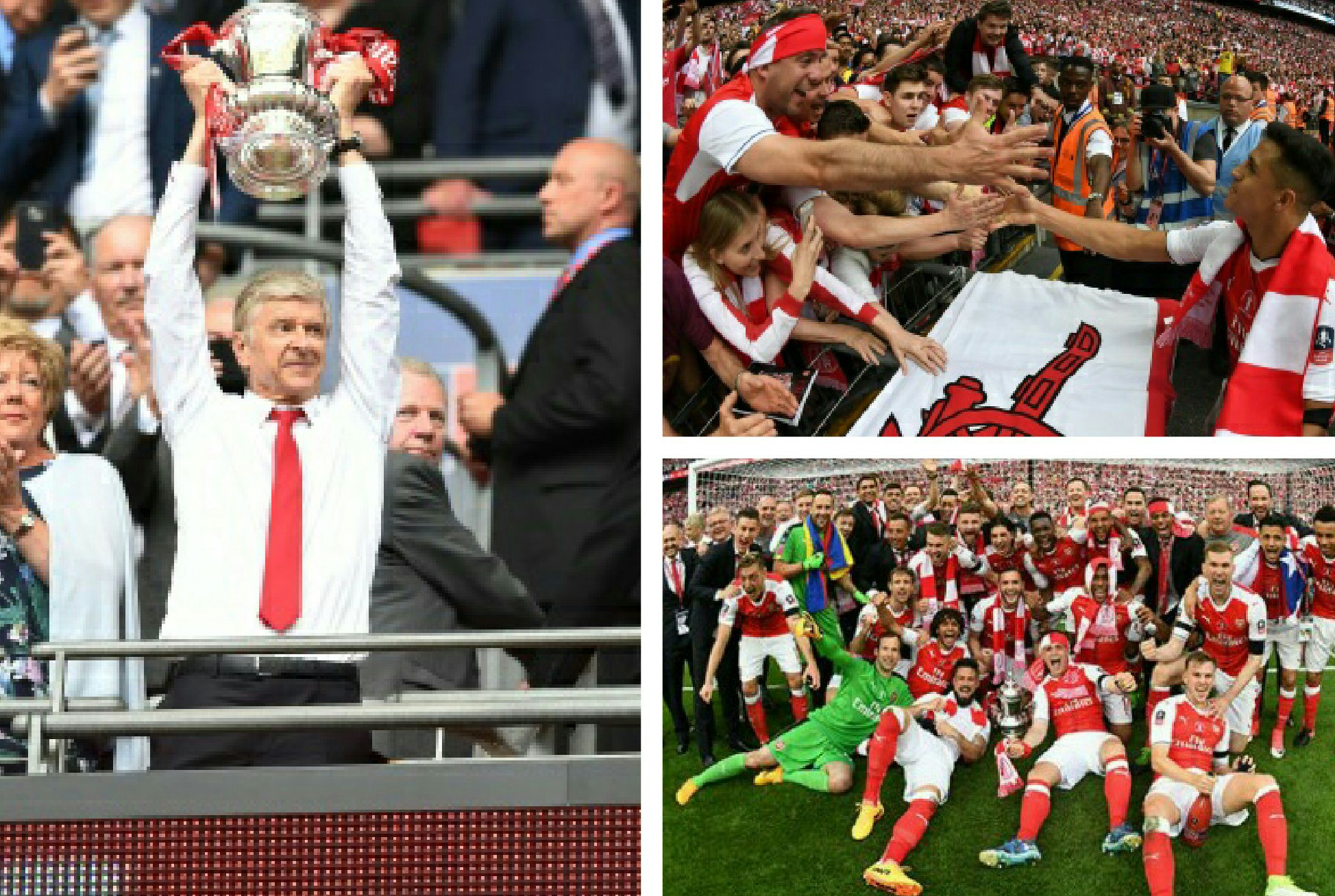 Oliseh, Ikpeba Celebrate Arsenal's FA Cup Win,  Urge Wenger Stay
