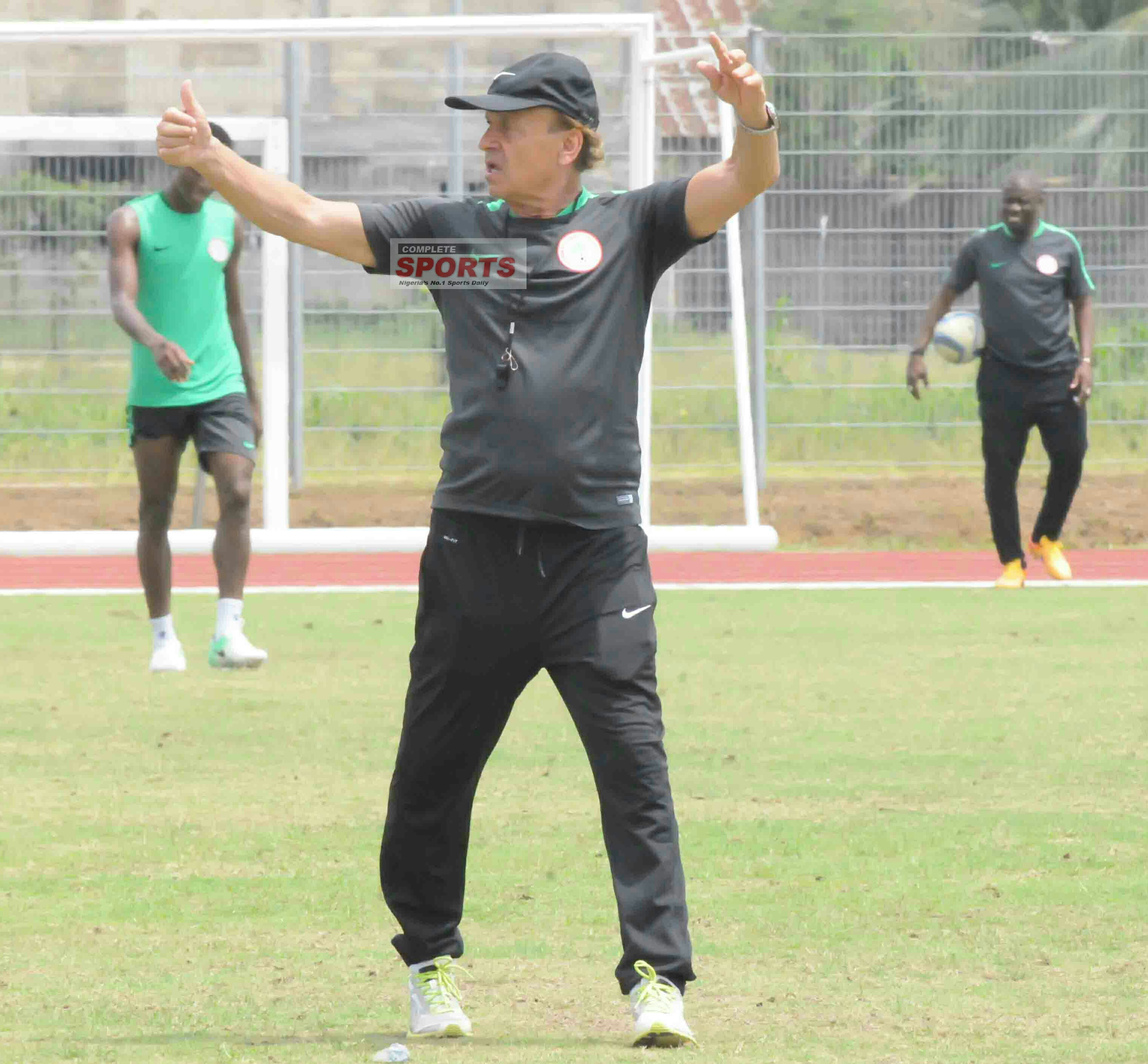 Rohr Joins Eagles In Cotonou For CHAN Clash