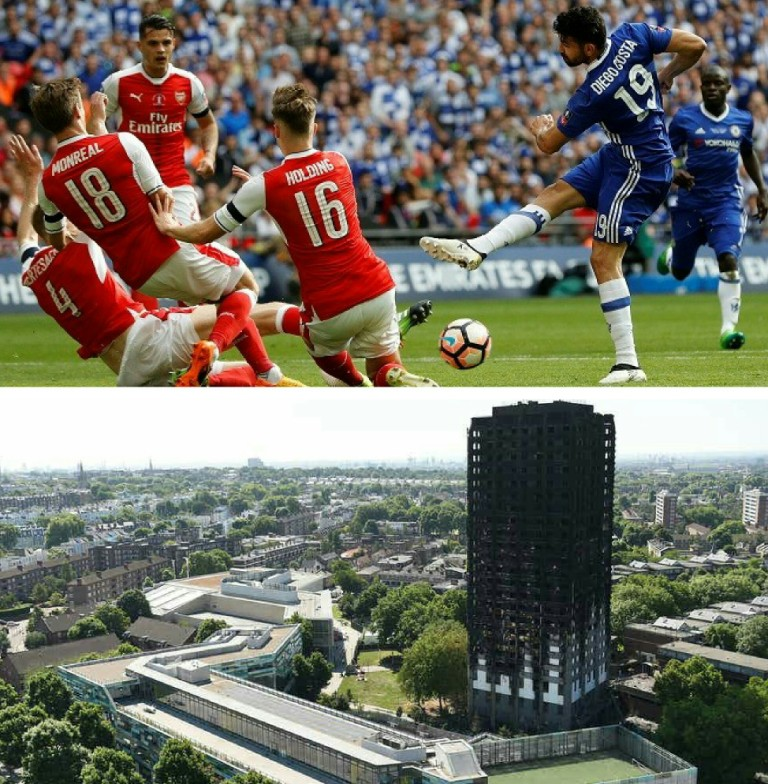 Arsenal Vs Chelsea Community Shield Proceeds Will Go To Grenfell Tower Fire Victims