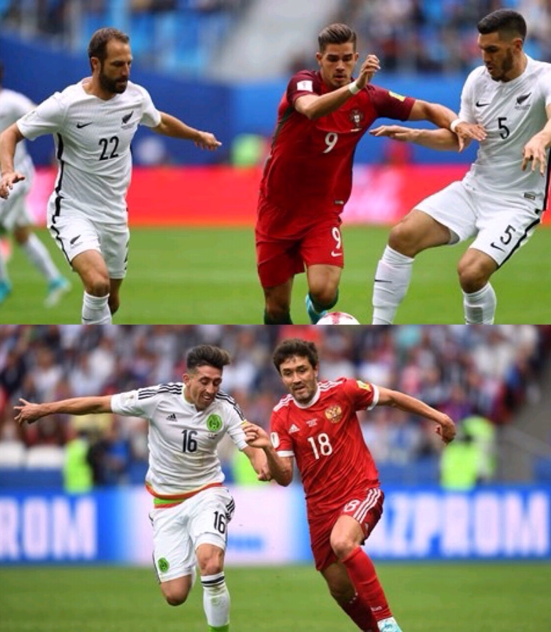 Confed Cup: Portugal, Mexico Win, Zoom Into Semis; Hosts Russia, New Zealand Crash Out