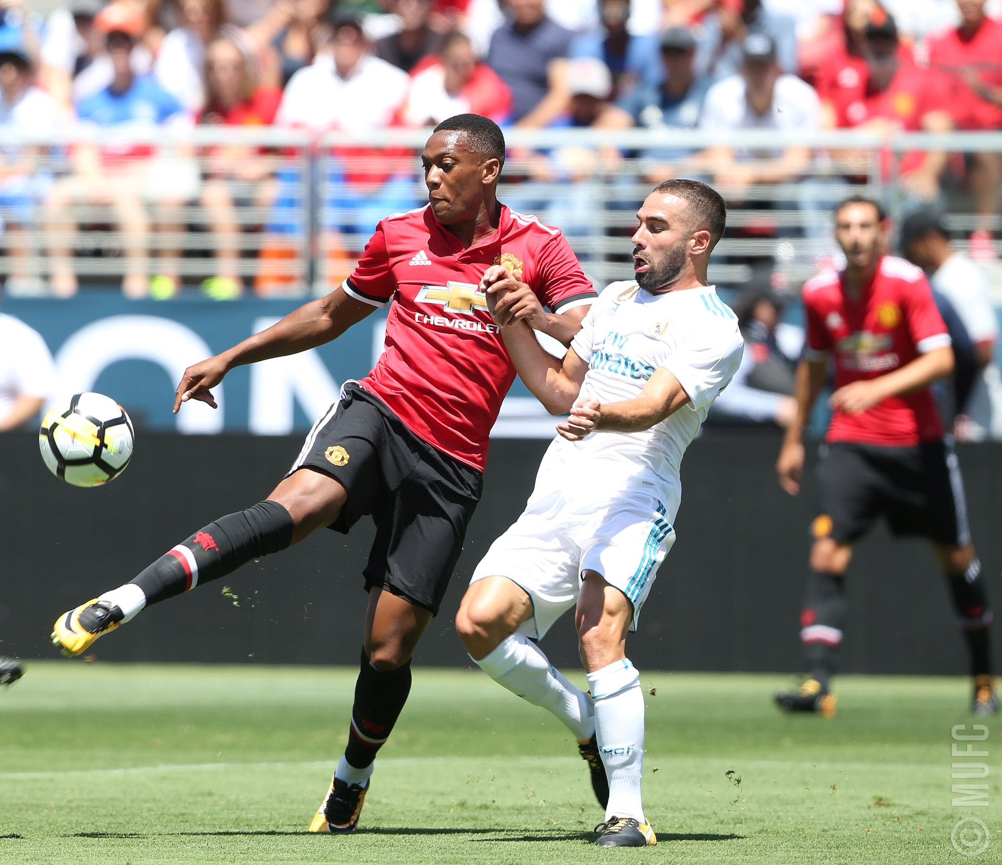 ICC: Martial Dazzles As Man United Edge Out Real Madrid
