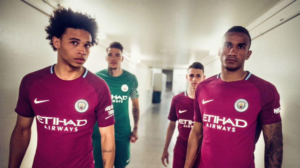 brand new 17280 57276 Man City Launch New 2017/2018 Away Kit Without Iheanacho ...