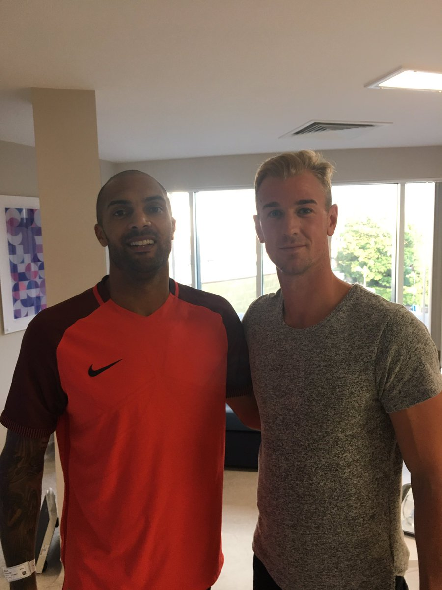 Man City Goalie Hart Visits Ikeme In Hospital,  Shows Support
