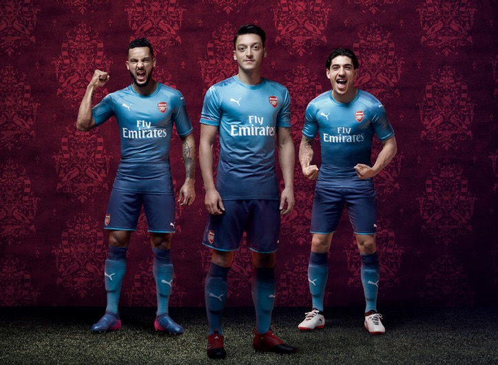 Arsenal Unveil New All Blue Away Kit for 2017/2018 Season