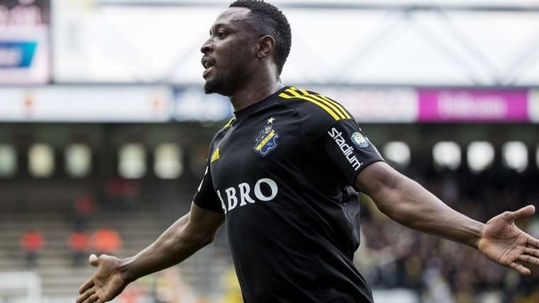 Obasi Rejoins Swedish Club AIK From China