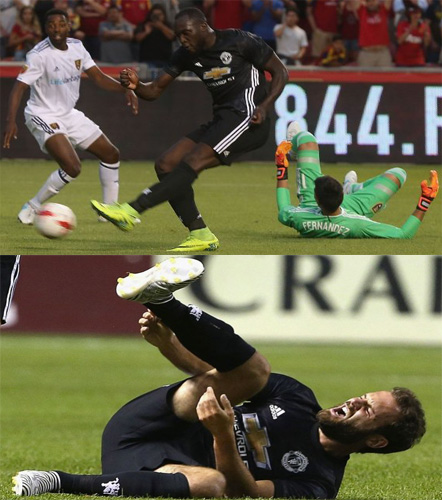 Mourinho Plays Down Mata Injury As Lukaku Celebrates First United Goal