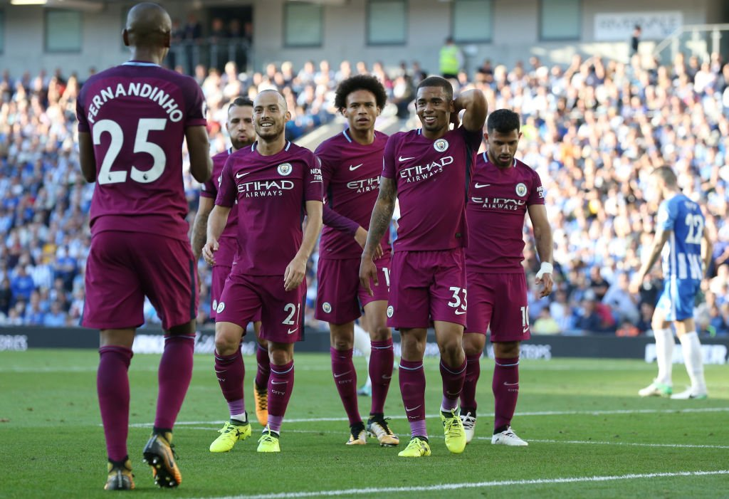 Aguero On Target As Man City Overcome Stubborn Brighton