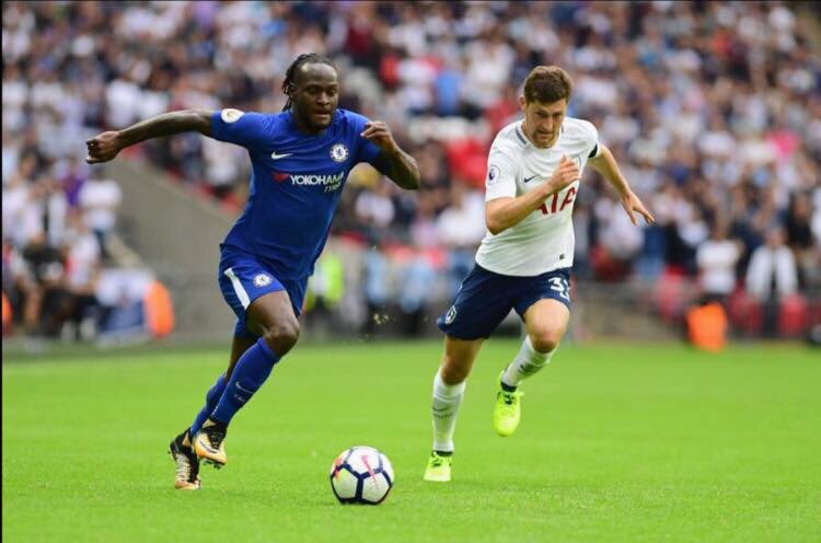 "Moses Praises Chelsea Teammates, Fans For ""Massive Win"" Vs Spurs"