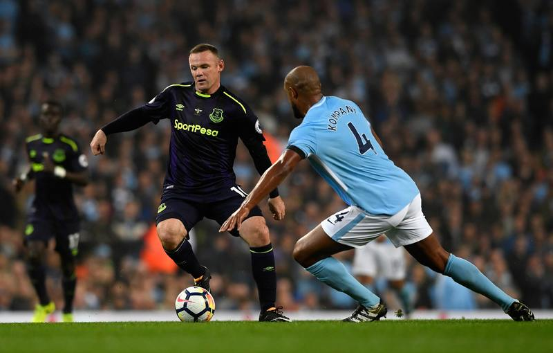 Rooney Hits Premier League  Milestone As Man City, Everton Draw