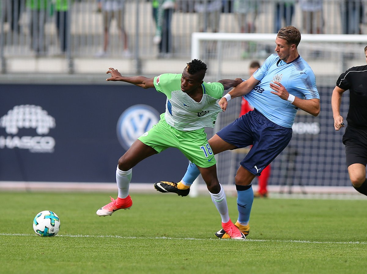 Osimhen Shines Despite Wolfsburg's Friendly Defeat To Newcastle