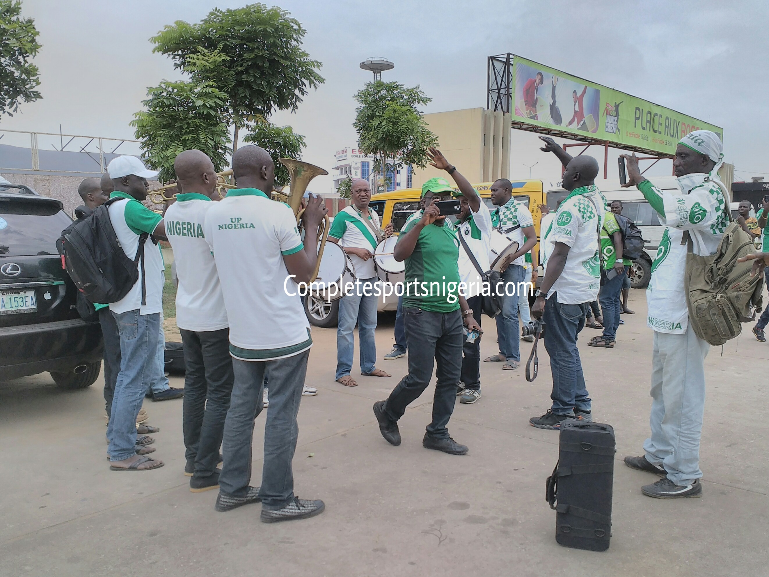 CHAN Qualifier: Nigerian Supporters Club Invade Cotonou Stadium Hours To Kick-Off