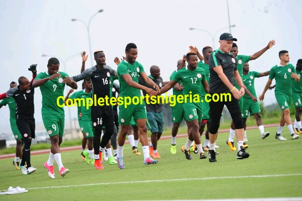 16 Players In Super Eagles Uyo Camp, Eight To Arrive Tuesday Ahead Zambia Clash