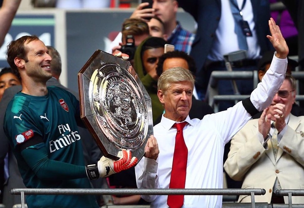 Wenger Hails Kolasinac Impact In Community Shield Win, To 'Try Hard' In EPL Title Chase