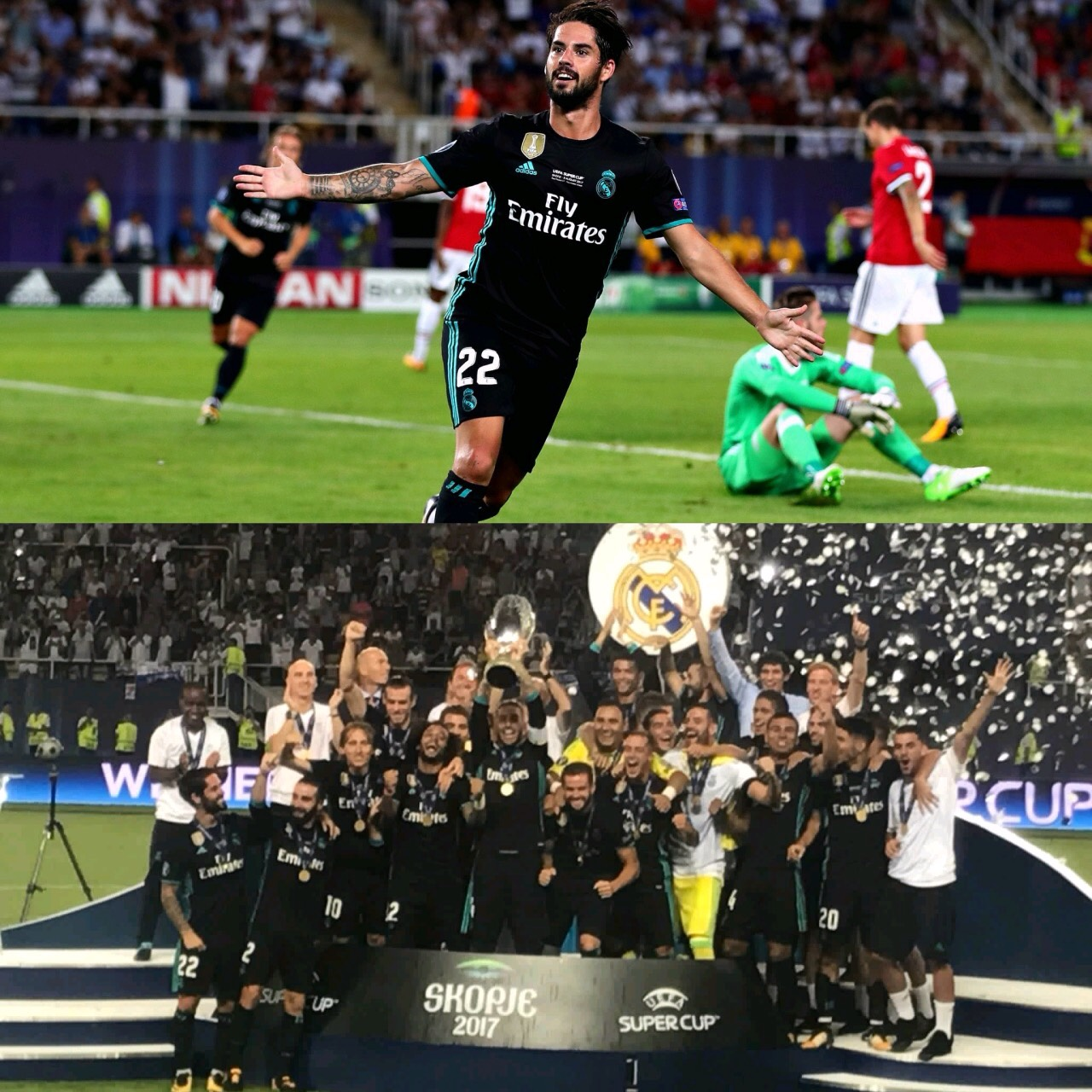 Real Madrid Outclass Man United To Retain UEFA Super Cup