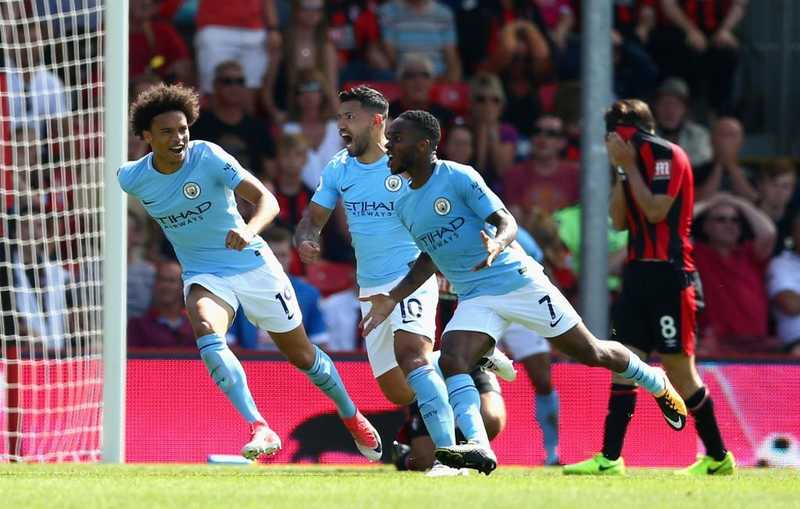 Sterling Nets Winner, Bags Red Card As Man City Pip Bournemouth