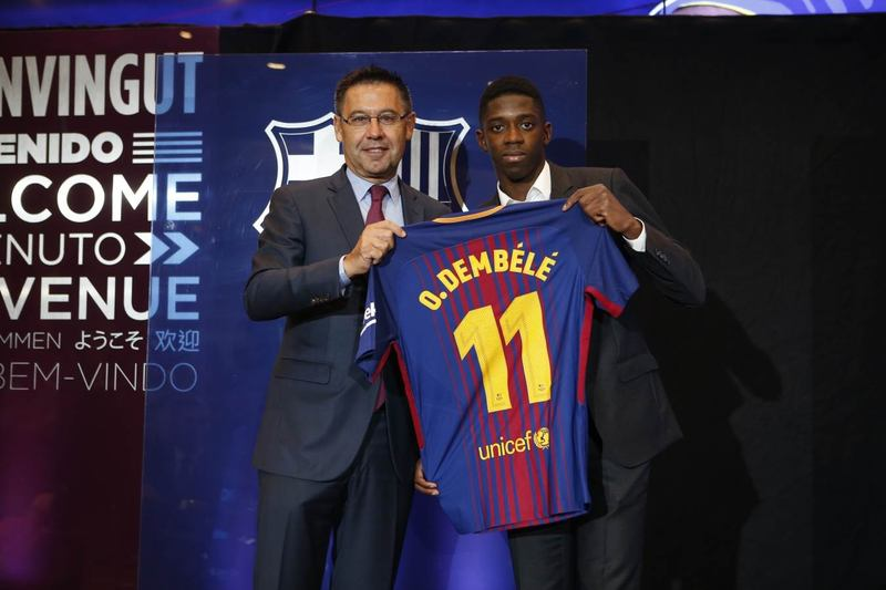 Dembele Seals £135.5m Barca Deal, Becomes World Second Most Expensive Footballer