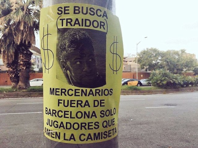Barcelona Fans Turn Against Neymar, Put Up Insulting Posters Of Want-Away Star