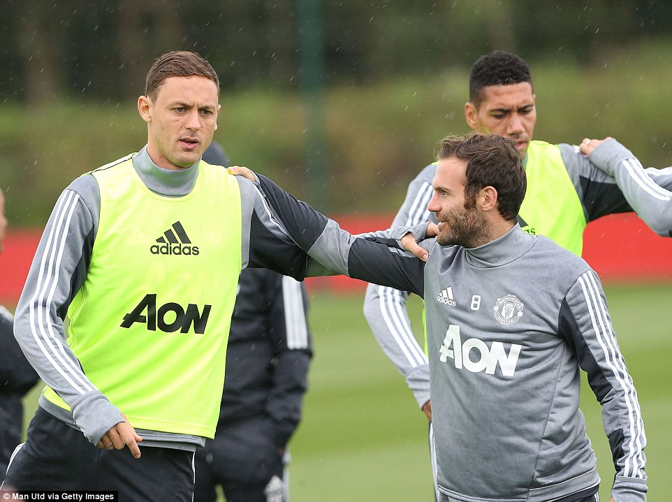 Chelsea Old Boys Matic And Mata Reunite in Manchester United Training Ground