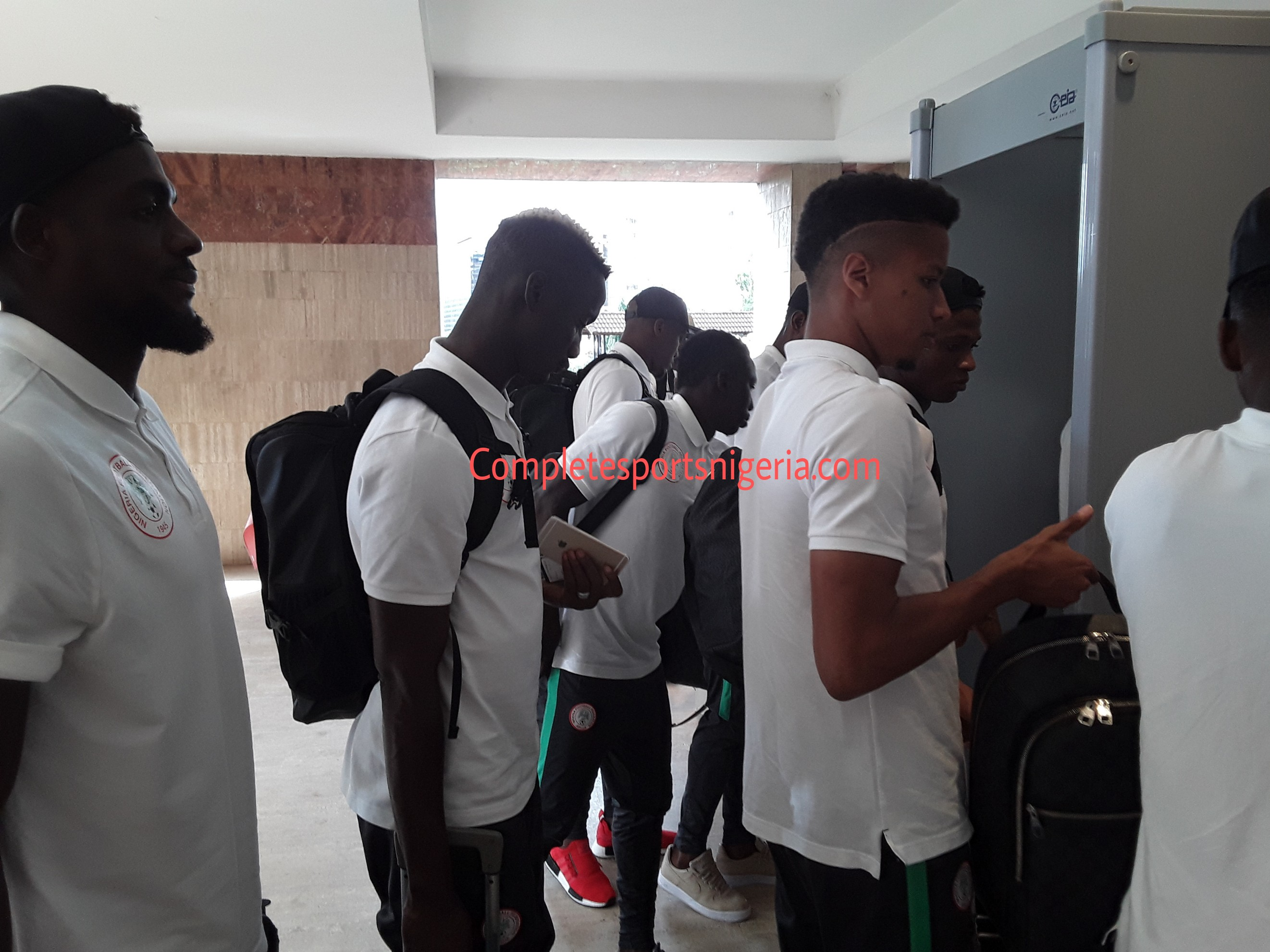 Super Eagles Land In Yaounde For Indomitable Lions