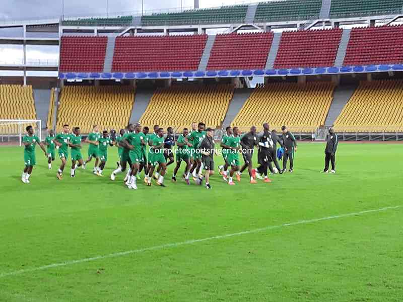 PICTURES: Super Eagles Arrive, Train In Yaounde