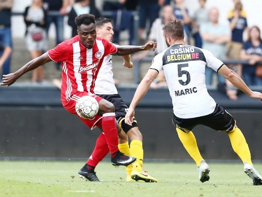Emenike Hits Olympiacos Brace, Osimhen Out, Akpeyi Returns For Chippa United