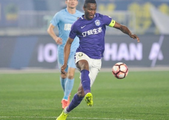 China: Mikel Goes Down With Tianjin Teda In Suning Clash