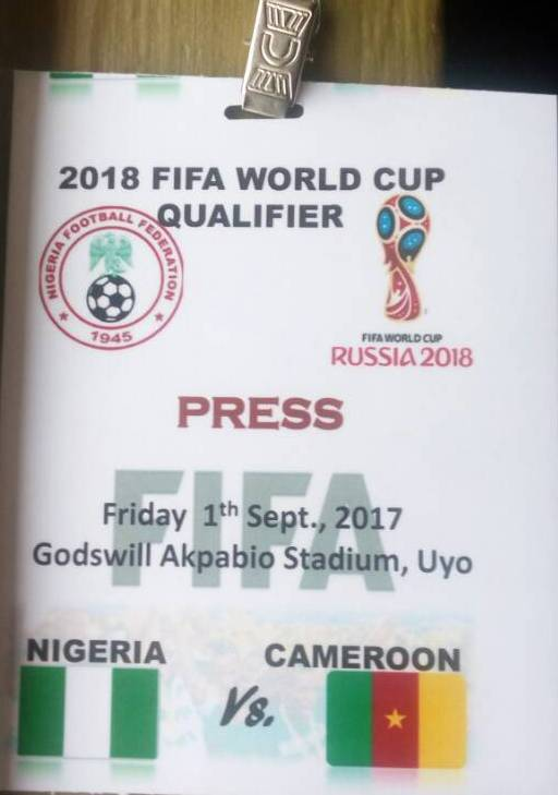 NFF Accredit 250 Journalists For Eagles/Cameroon Game