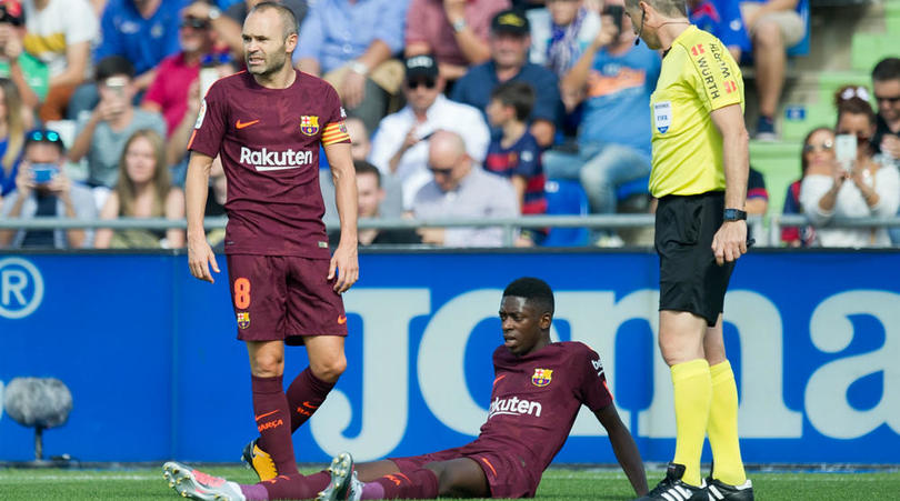 [Watch Video] Dembele Returns To Barcelona In Wheelchair After Surgery In Finland