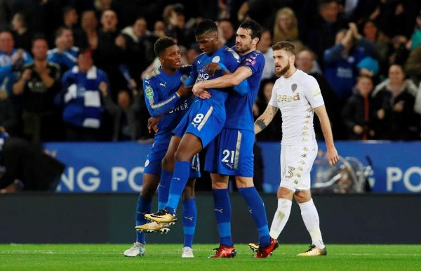 Carabao Cup: Iheanacho Scores First Leicester Goal, Algeria's Slimani, Mahrez On Target; United Win