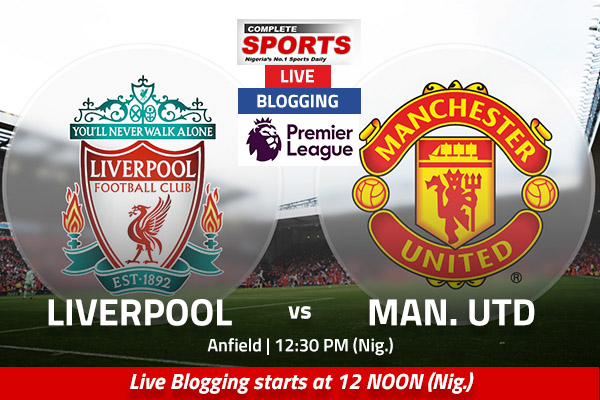 LIVE BLOGGING: Liverpool vs Manchester United