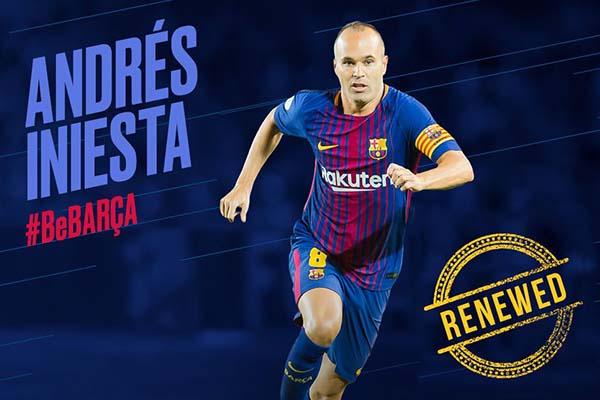 BARCA FOR LIFE: Iniesta Signs Lifetime Contract With LaLiga Giants