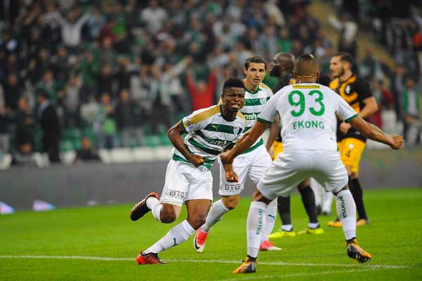 Mikel Agu Opens Goals Account As Bursaspor Win Battle Of Nigerians