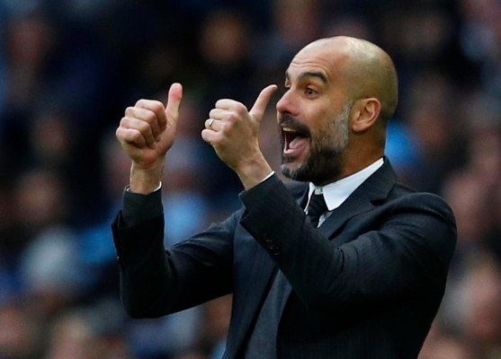 Guardiola Pleased With Man City Record, Praises Aguero