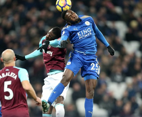 Ndidi Starts 30th Leicester Game In West Ham Draw; Iheanacho Benched, Musa Out