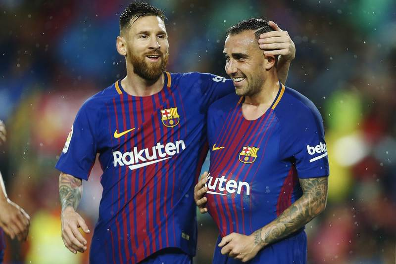 Alcacer Bags Brace As Barcelona Edge Sevilla To Stay Top