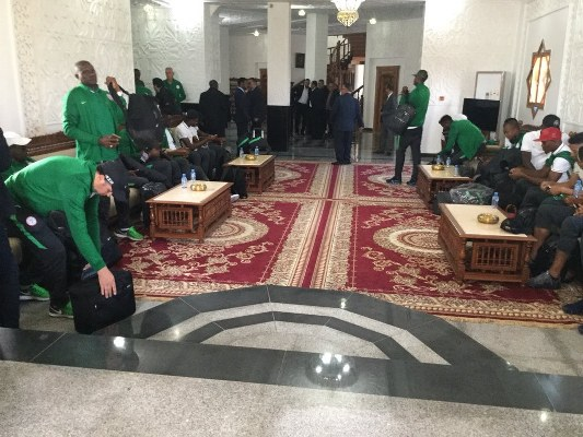 ALGERIA VS NIGERIA: Super Eagles Land In Constantine To Warm Welcome