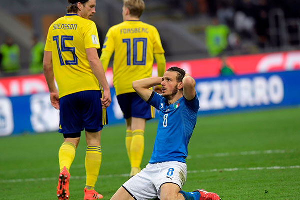 Italy Miss First World Cup In 60 Years As Sweden Qualify