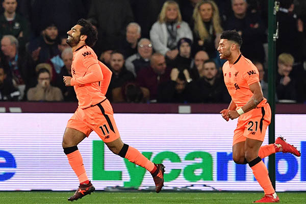 Salah Hits Brace, Oxlade Bags First Goal As Liverpool Hammer West Ham