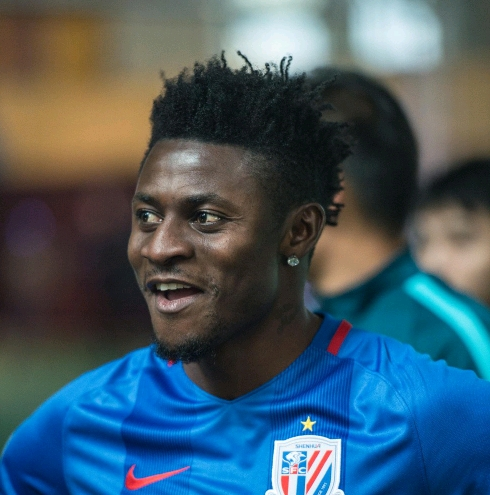 Martins Rated Shanghai Shenhua's 3rd Best Player In 2017