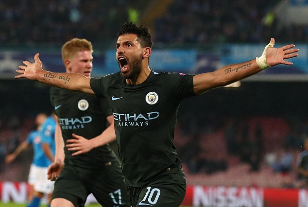 Aguero Scores In Manchester City Win Over Napoli To Become Club's Record All-Time Top Goalscorer