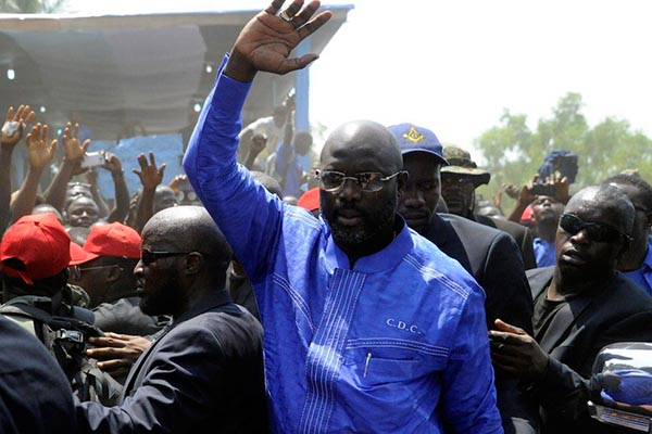 CAF Congratulate 'President' Weah With Official Liberia Election Results Not Yet Announced